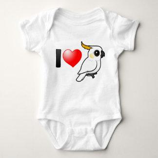 Amo Cockatoos Amarillo-con cresta (abajo) Body Para Bebé