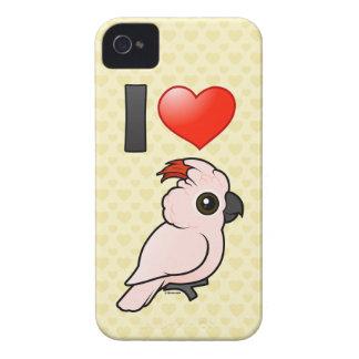 Amo Cockatoos moluqueños Case-Mate iPhone 4 Fundas