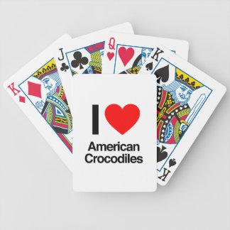amo cocodrilos americanos barajas de cartas