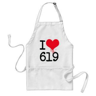 Amo código de área 619 delantal