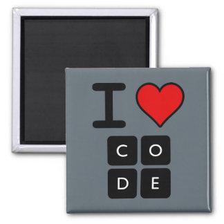 Amo código imán cuadrado