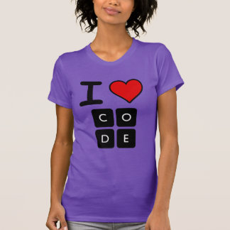 Amo código camiseta