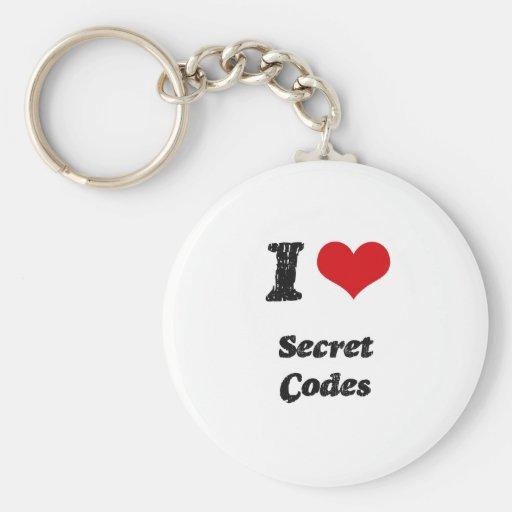 Amo códigos secretos llavero personalizado