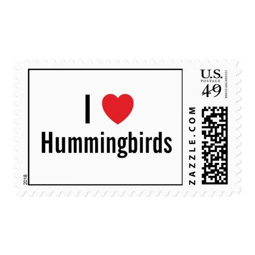 Amo colibríes franqueo