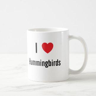 Amo colibríes taza de café