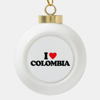 AMO COLOMBIA ADORNO DE CERÁMICA EN FORMA DE BOLA