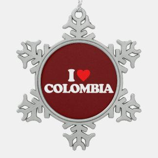 AMO COLOMBIA ADORNO DE PELTRE EN FORMA DE COPO DE NIEVE