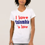 Amo Colombia Camisetas