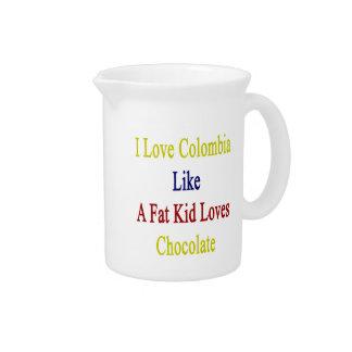 Amo Colombia como un chocolate de los amores del Jarrones