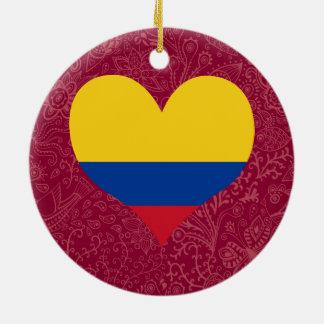 Amo Colombia Adorno Redondo De Cerámica