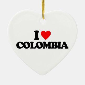 AMO COLOMBIA ADORNO DE CERÁMICA EN FORMA DE CORAZÓN