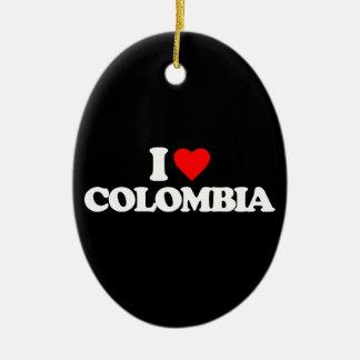 AMO COLOMBIA ADORNO OVALADO DE CERÁMICA