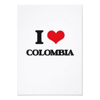 """Amo Colombia Invitación 5"""" X 7"""""""