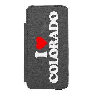 AMO COLORADO FUNDA BILLETERA PARA iPhone 5 WATSON