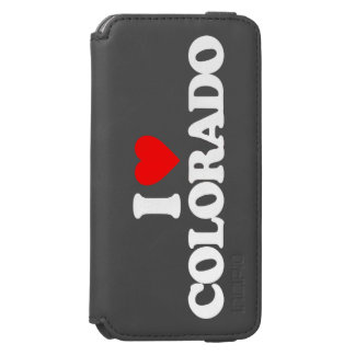 AMO COLORADO FUNDA BILLETERA PARA iPhone 6 WATSON