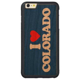 AMO COLORADO FUNDA DE CEREZO BUMPER CARVED® PARA iPhone 6 PLUS