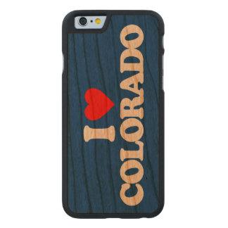 AMO COLORADO FUNDA DE iPhone 6 CARVED® SLIM DE CEREZO