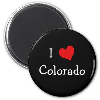 Amo Colorado Imán Redondo 5 Cm