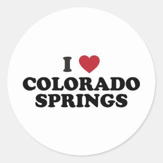 Amo Colorado Springs Pegatina Redonda