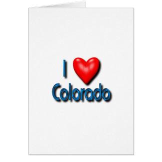 Amo Colorado Tarjeta De Felicitación