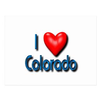 Amo Colorado Tarjeta Postal