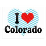Amo Colorado Tarjetas Postales