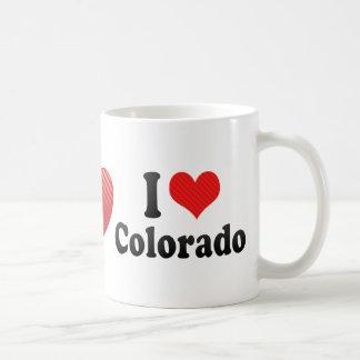 Amo Colorado Taza Básica Blanca