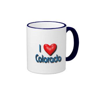 Amo Colorado Taza De Dos Colores