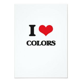 """Amo colores invitación 5"""" x 7"""""""