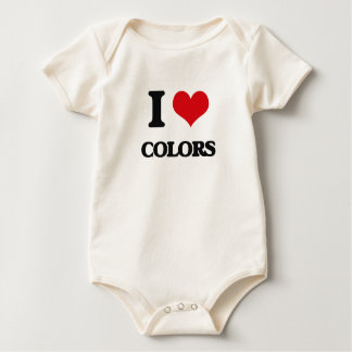 Amo colores mameluco de bebé