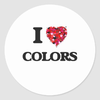 Amo colores pegatina redonda