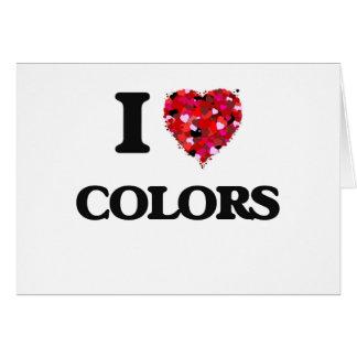Amo colores tarjeta de felicitación