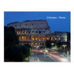 Amo Colosseum por noche Tarjetas Postales