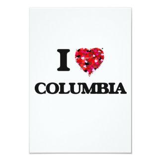 """Amo Columbia Carolina del Sur Invitación 3.5"""" X 5"""""""