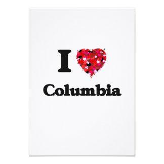 """Amo Columbia Carolina del Sur Invitación 5"""" X 7"""""""