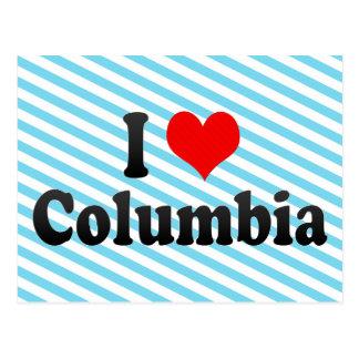 Amo Columbia, Estados Unidos Tarjetas Postales