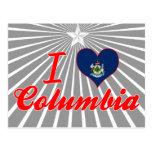 Amo Columbia, Maine Tarjeta Postal
