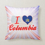 Amo Columbia, Nueva York Almohadas