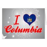 Amo Columbia, Nueva York Felicitación