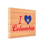 Amo Columbia, Nueva York Impresión De Lienzo
