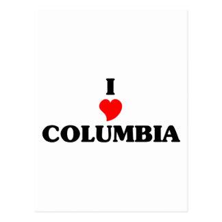 Amo Columbia Postales