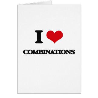 Amo combinaciones tarjeta de felicitación