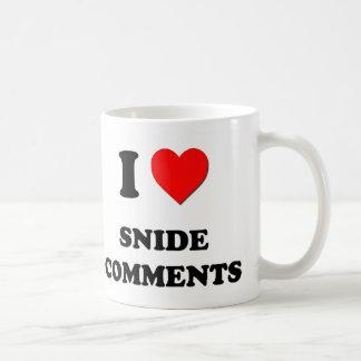 Amo comentarios deshonrosos taza básica blanca
