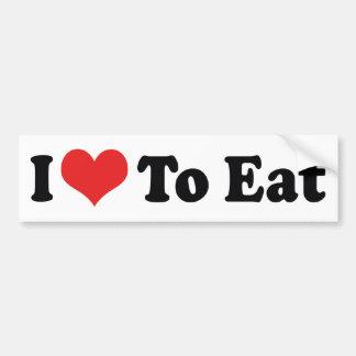 Amo comer a la pegatina para el parachoques pegatina para auto
