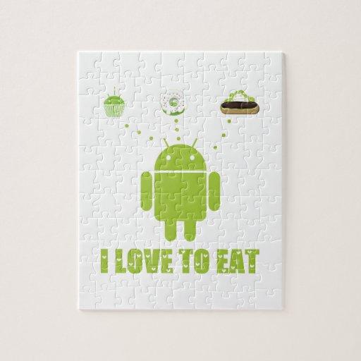 Amo comer (el Eclair androide de la magdalena de D Rompecabezas