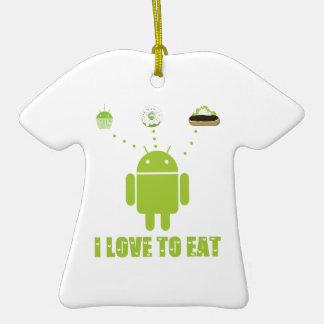 Amo comer (el Eclair androide de la magdalena de Ornamentos De Navidad