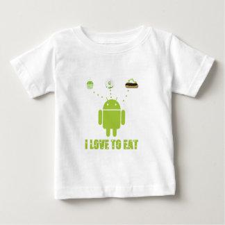 Amo comer (el humor androide del analista de playera de bebé
