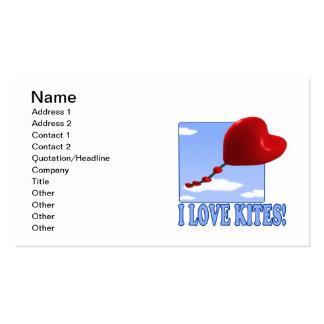 Amo cometas tarjetas de visita