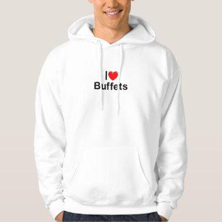 Amo comidas frías (del corazón) suéter con capucha