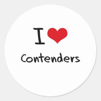 Amo competidores etiquetas redondas